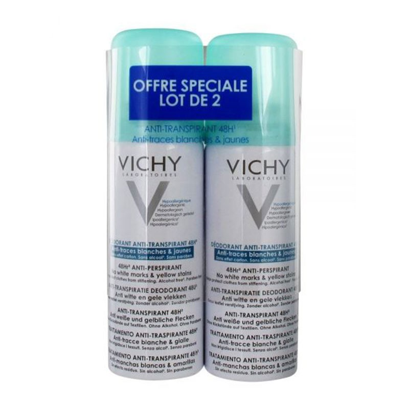 Vichy Desodorante Antitranspirante Antimanchas 48h Spray 125ml x2 unidades