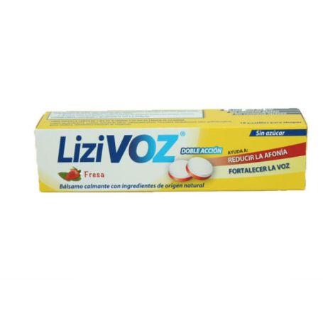 Lizivoz Fresa Bálsamo Calmante Garganta 18 pastillas