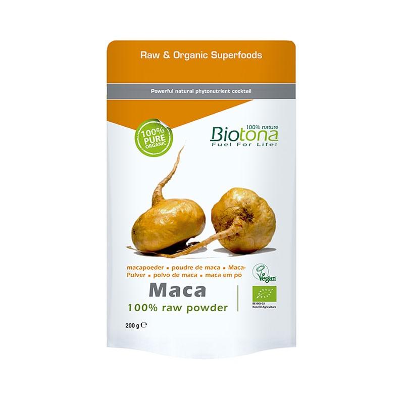 Biotona Maca en Polvo 100% Orgánica 200 gr