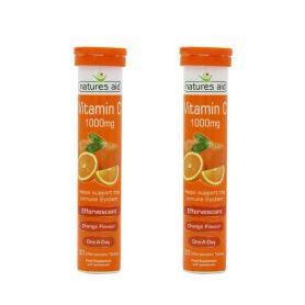 Natures Aid Vitamina C 1000mg 20 comprimidos efervescentes x2 unidades