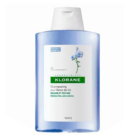 Klorane Champú a las fibras de lino cabellos frágiles 400 ml