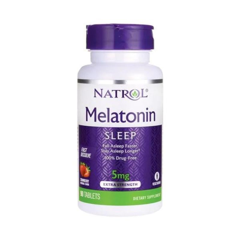 Melatonina Natrol Fast Dissolve 5mg Sabor Fresa 90 tabletas
