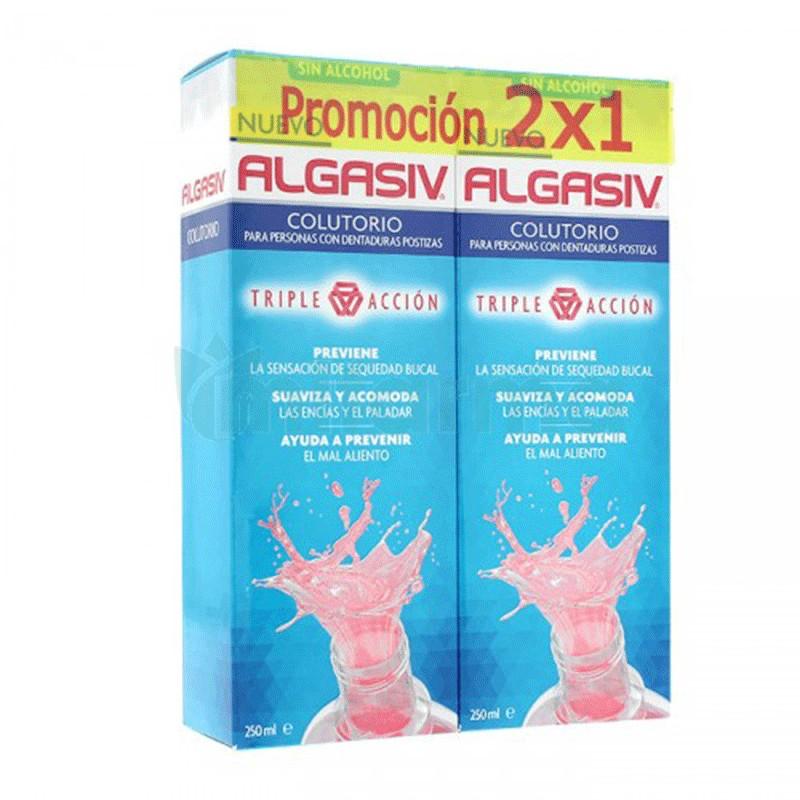 Algasiv Colutorio Dentaduras Postizas 250ml x2 unidades