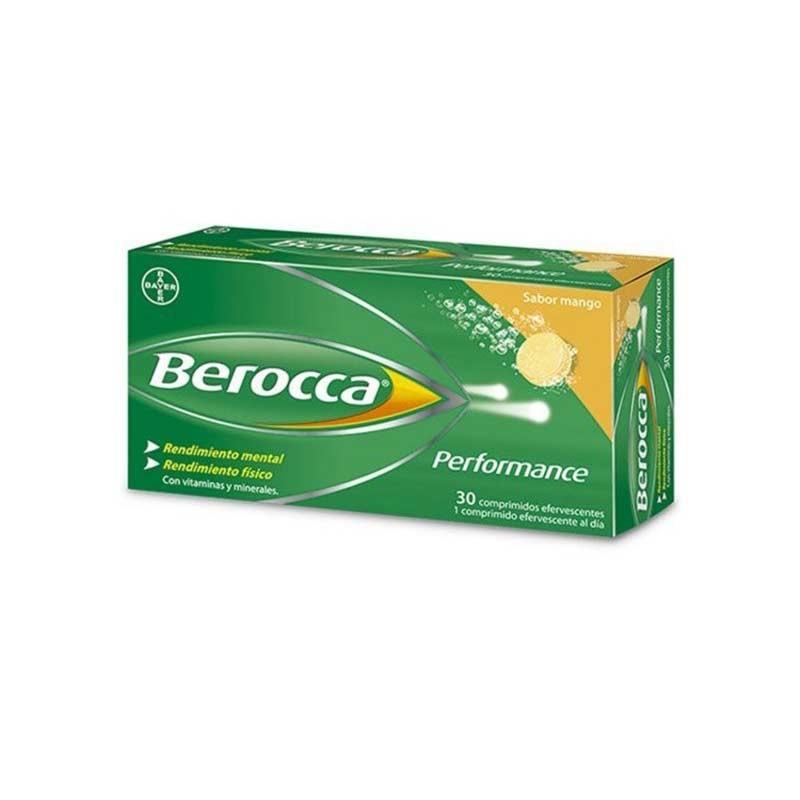 Berocca Performance 30 comprimidos efervescentes sabor mango