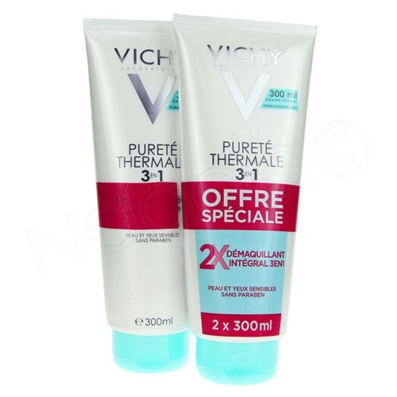 Vichy Pureté Thermale 3 en 1 Desmaquillante Integral Piel Sensible 300ml Duplo