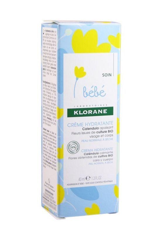 Klorane Bebé Crema Hidratante Cara y Cuerpo 40ml