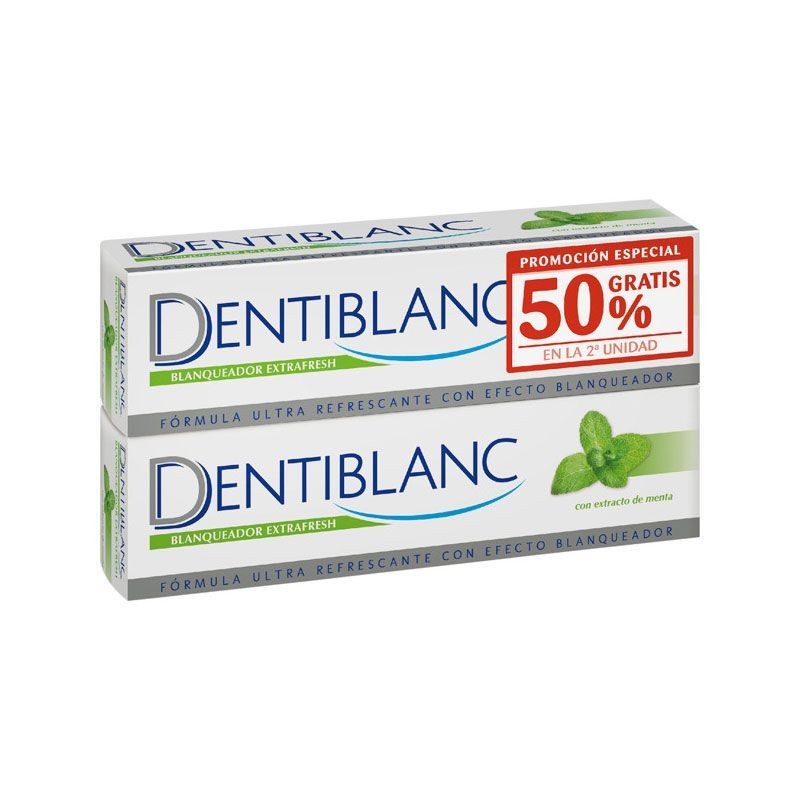Dentiblanc Dentífrico Blanquador Extrafresh Pack + cepillo de regalo