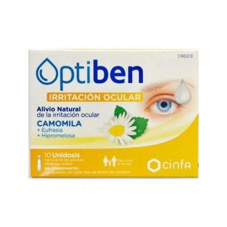 Optiben Irritación Ocular Colirio 10 Unidosis