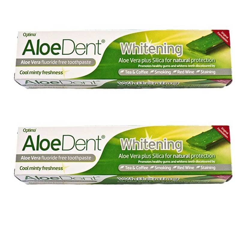 AloeDent Dentífrico Blanqueador Aloe Vera 100ml x2 unidades