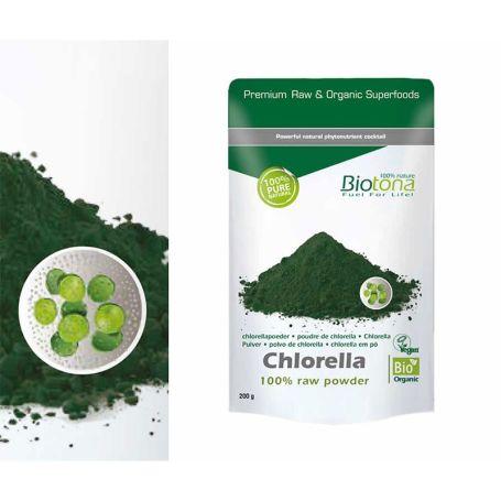 Biotona Chlorella BIO en polvo 200 gr
