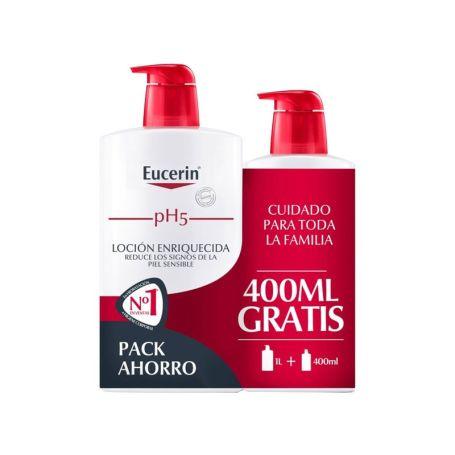 Eucerin Loción Enriquecida 1000ml + Ecopack 400ml de REGALO