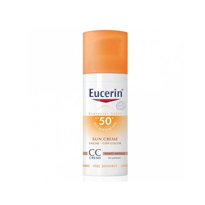 eucerin sun creme spf50 cc cream tono medio 50ml. Black Bedroom Furniture Sets. Home Design Ideas