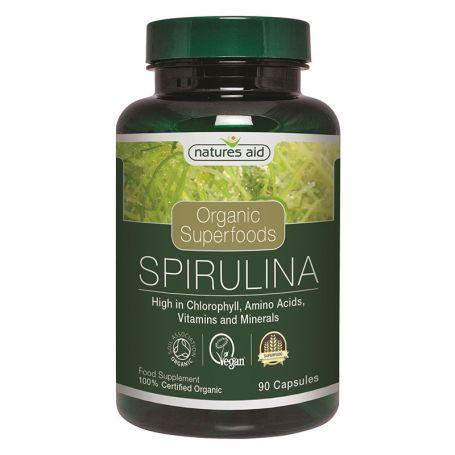 Natures Aid Spirulina 90 cápsulas