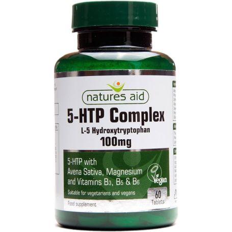 Natures Aid 5HTP Complex 100mg 60 comprimidos