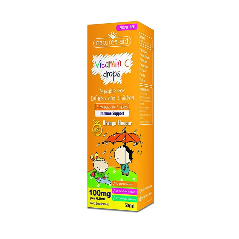 Natures Aid Vitamin C Drops 100mg 50ml