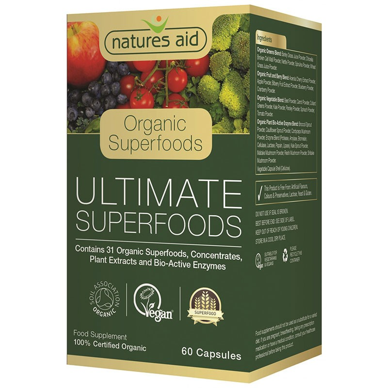 Natures Aid Ultimate Superfoods 60 cápsulas