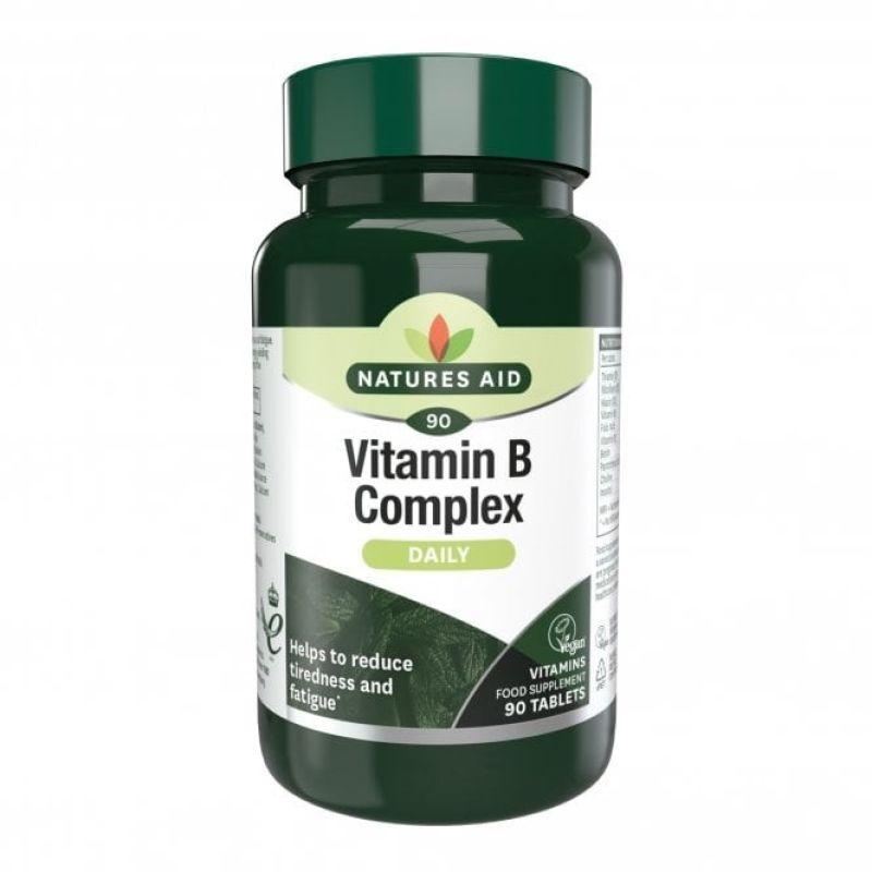 Natures Aid Vitamina B Complex 90 tabletas