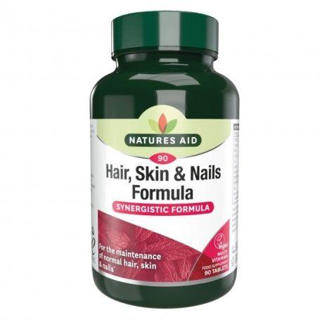 Natures Aid Hair, Skin Nails Fórmula 90 tabletas