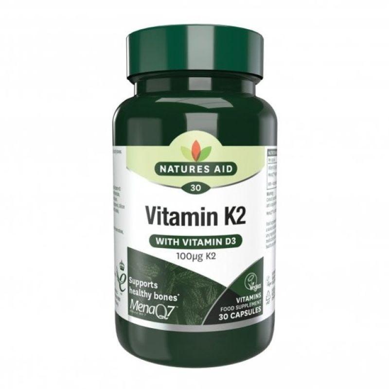 Natures Aid Vitamina K2 100g 30 comprimidos