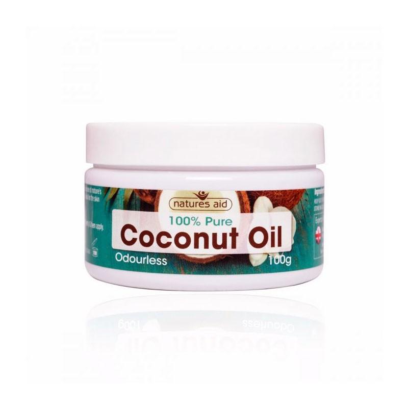 Natures Aid Coconut Aceite de Coco Orgánico 100 gr