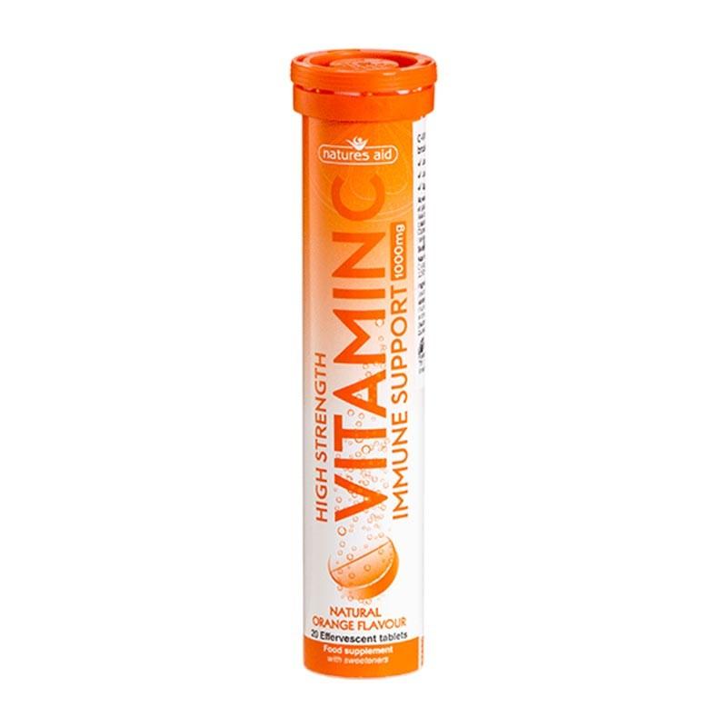 Natures Aid Vitamina C 1000mg 20 comprimidos efervescentes