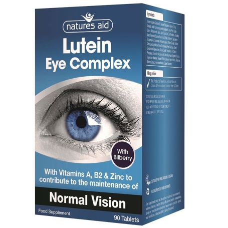 Natures Aid Lutein Eye Complex 90 tabletas