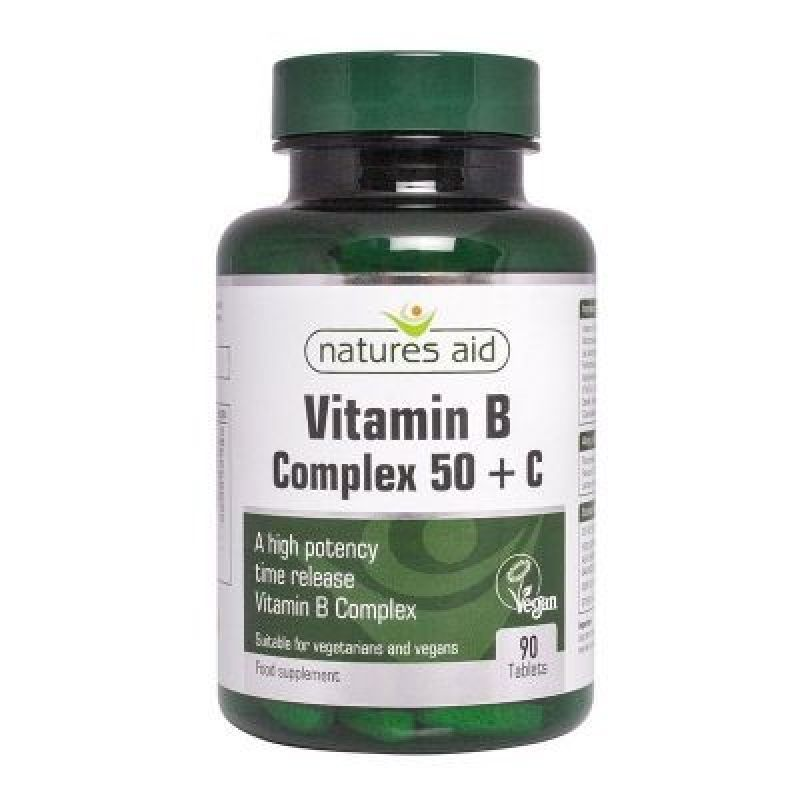 Natures Aid Vitamin B Complex 50 + C 90 tabletas