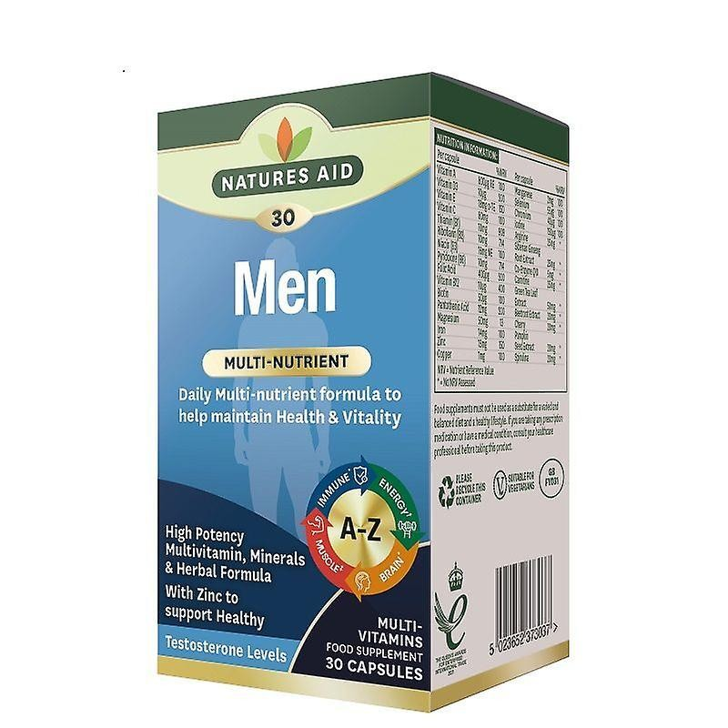 Natures Aid Men Multivitamínico 30 cápsulas