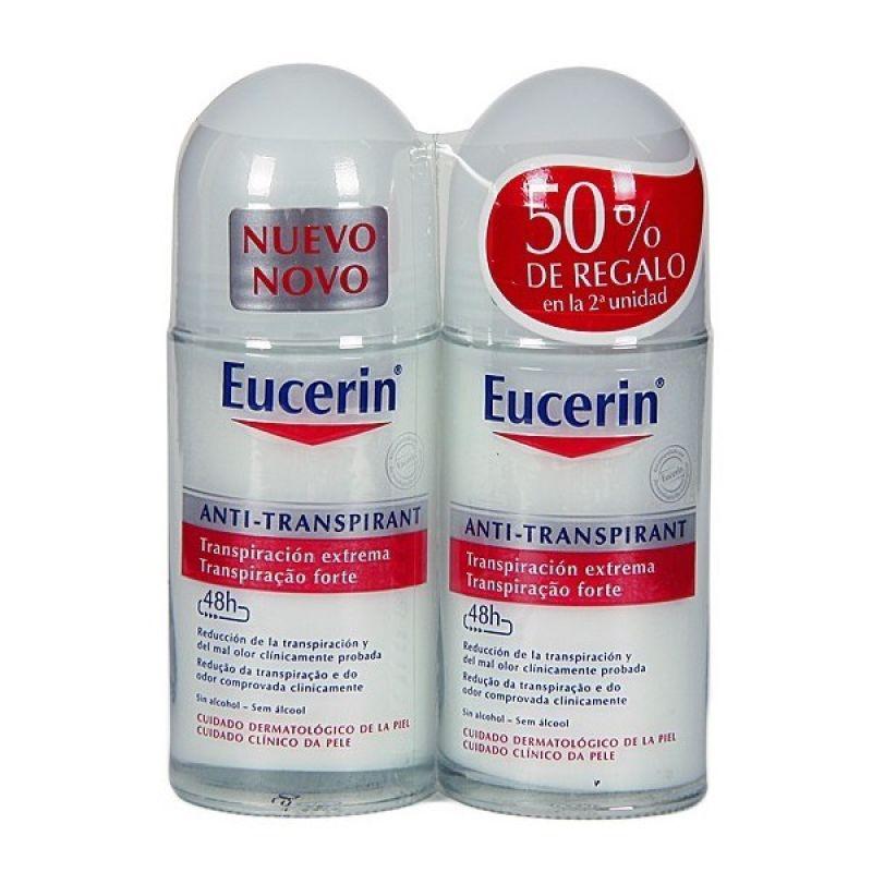 Eucerin Desodorante Roll-on Transpiración Extrema 50 ml x2 unidades