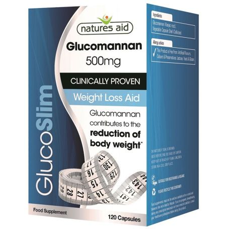 Natures Aid GlucoSlim Glucomannan 500mg 120 cápsulas