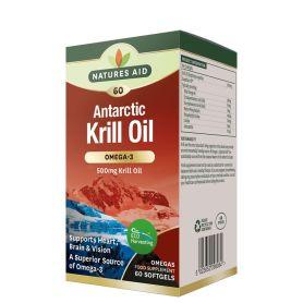 Natures Aid Krill Oil 100% Omega-3 Puro 60 cápsulas