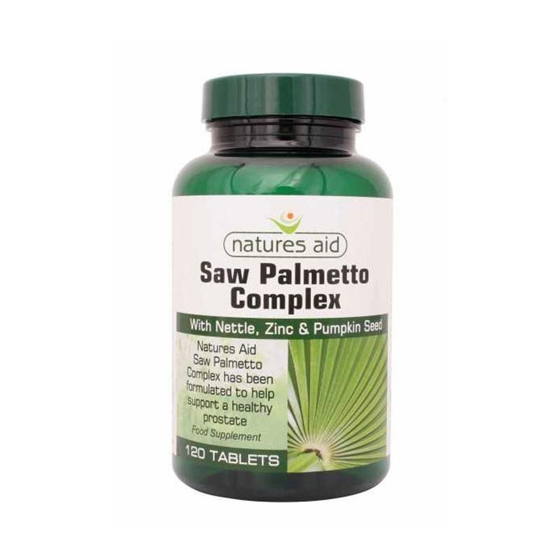 Natures Aid Saw Palmetto Complex 120 tabletas