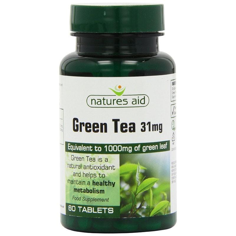 Natures Aid Té Verde 60 comprimidos