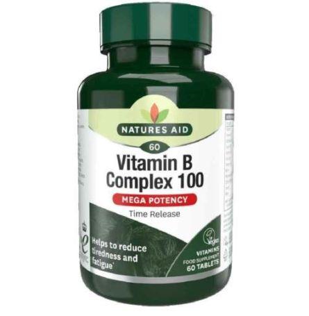 Natures Aid Vitamina B Complex 100 60 comprimidos liberación prolongada