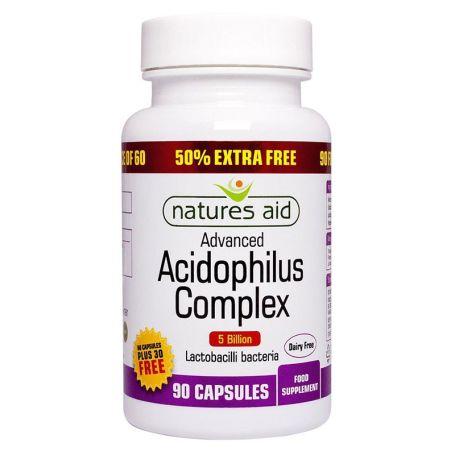 Natures Aid Acidophylus Complex probióticos 90 cápsulas