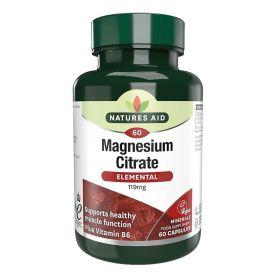 Natures Aid Magnesio Citrato 125mg 60 tabletas