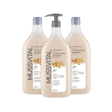 Mussvital Essentials Gel de Baño Avena Pack de 3 unidades