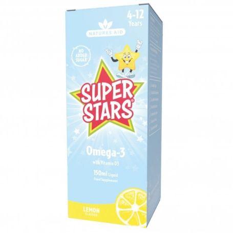 Natures Aid Kidz Omega-3 con Vit D3 150ml