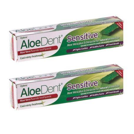 AloeDent Sensitive Dentífrico Aloe Vera 100ml x2 unidades