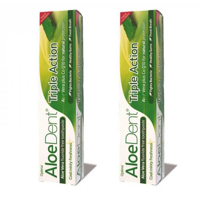 AloeDent Dentífrico Triple Acción Aloe Vera 100ml x2 unidades