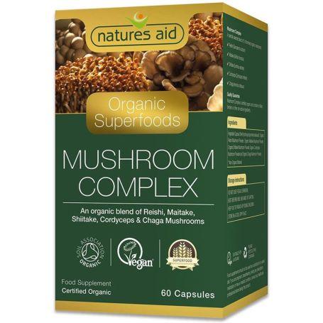 Natures Aid Mushroom Complex 60 cápsulas