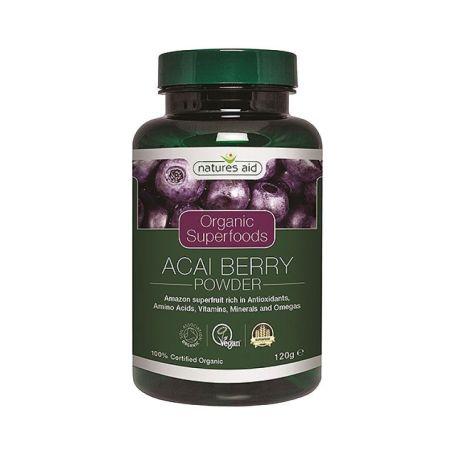 Natures Aid Açai Berry en Polvo BIO 120 gr