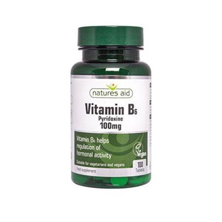 Natures Aid Vitamina B6 100mg 100 tabletas