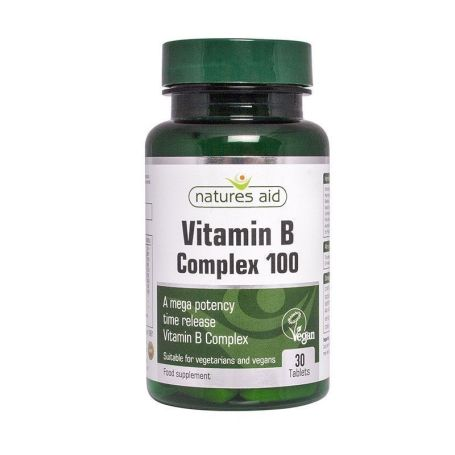 Natures Aid Vitamina B Complex 30 tabletas