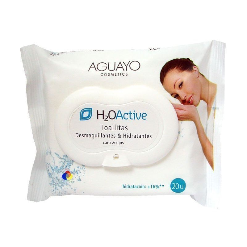 Aguayo H2O Active Toallitas Desmaquillantes Hidratantes 20ud