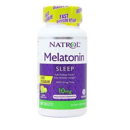 Melatonina Natrol 10mg Fast Dissove sabor limón 60 comprimidos