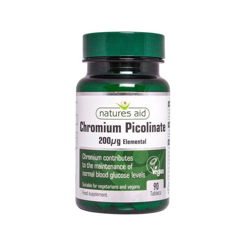 Natures Aid Cromo Picolinato 200ug 90 comprimidos