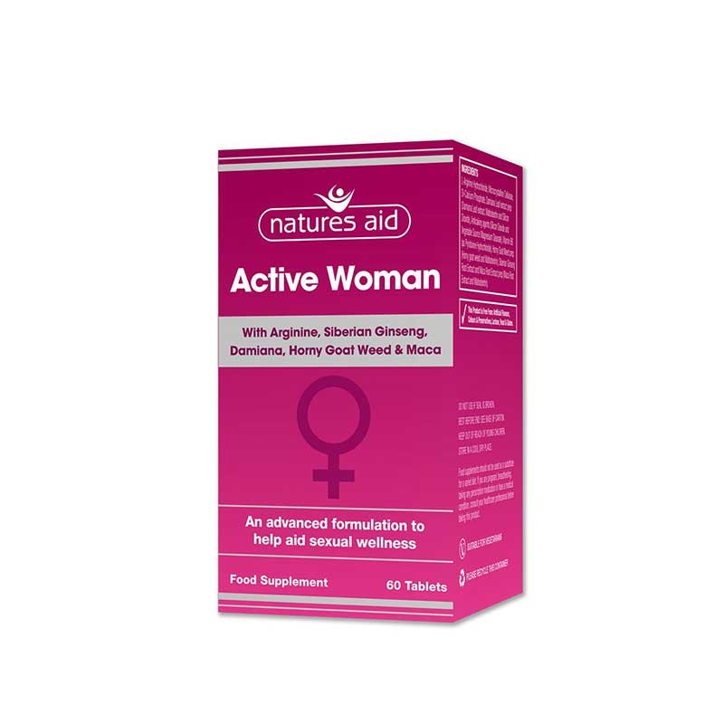 Natures Aid Active Woman 60 comrpimidos
