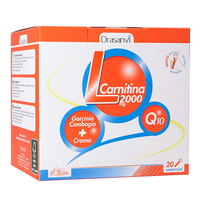 Drasanvi L-Carnitina 2000mg 20 viales x15ml