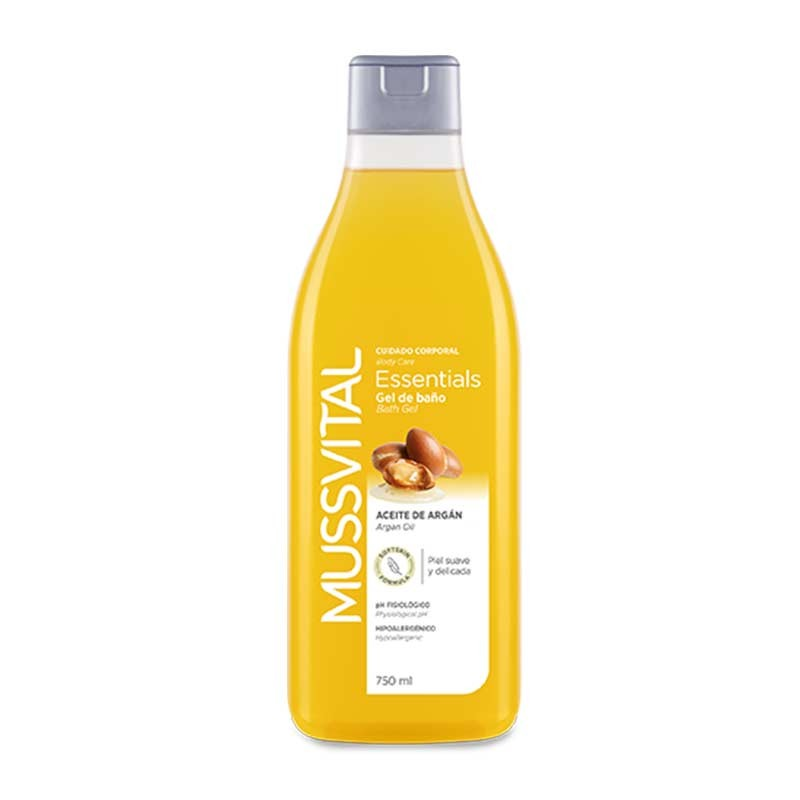 Mussvital Essentials Gel de Baño de Aceite de Argán 750ml